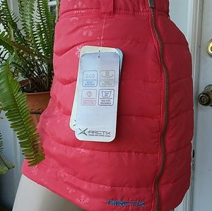 Arctix Snow Skirt Red Puffed Sz M